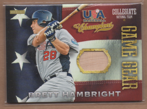 2013 USA Baseball Champions Game Gear Bats #7 Brett Hambright