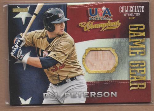 2013 USA Baseball Champions Game Gear Bats #10 D.J. Peterson