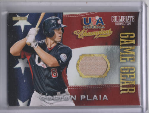 2013 USA Baseball Champions Game Gear Bats #11 Colton Plaia