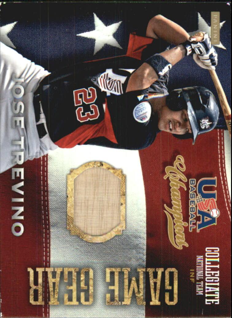 2013 USA Baseball Champions Game Gear Bats #12 Jose Trevino
