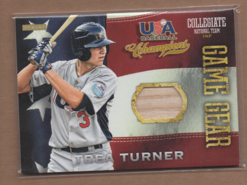 2013 USA Baseball Champions Game Gear Bats #13 Trea Turner