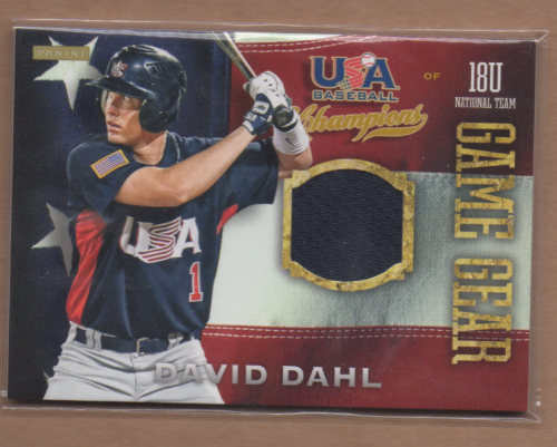 2013 USA Baseball Champions Game Gear Jerseys #1 David Dahl