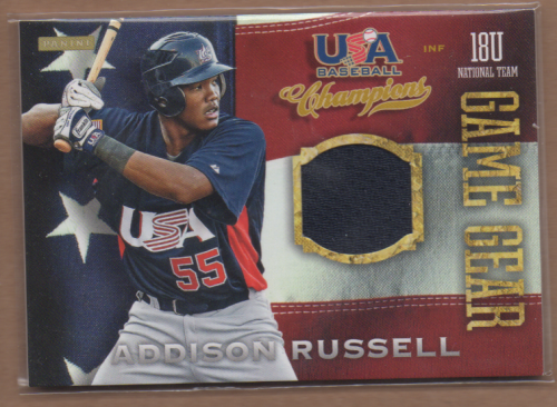 2013 USA Baseball Champions Game Gear Jerseys #2 Addison Russell