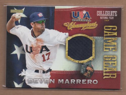 2013 USA Baseball Champions Game Gear Jerseys #3 Deven Marrero