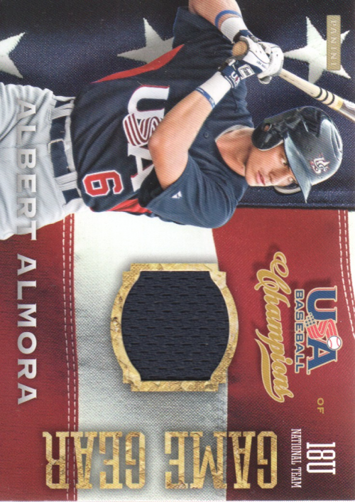 2013 USA Baseball Champions Game Gear Jerseys #4 Albert Almora