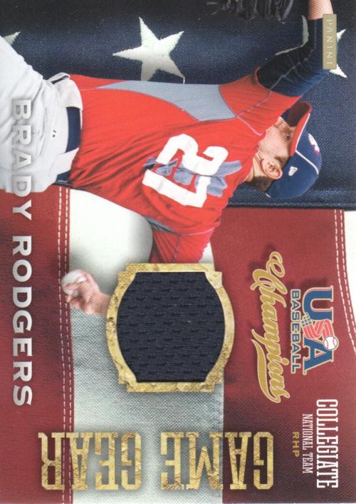 2013 USA Baseball Champions Game Gear Jerseys #5 Brady Rodgers