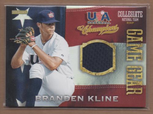 2013 USA Baseball Champions Game Gear Jerseys #6 Branden Kline