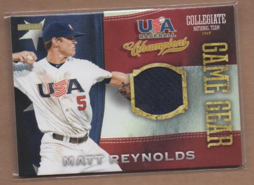 2013 USA Baseball Champions Game Gear Jerseys #8 Matt Reynolds