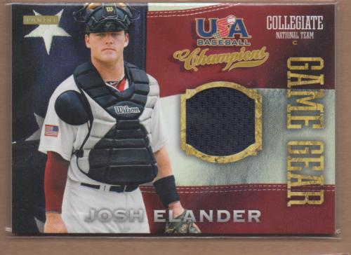 2013 USA Baseball Champions Game Gear Jerseys #10 Josh Elander