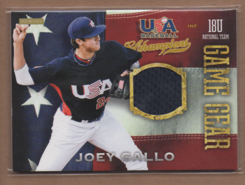 2013 USA Baseball Champions Game Gear Jerseys #13 Joey Gallo