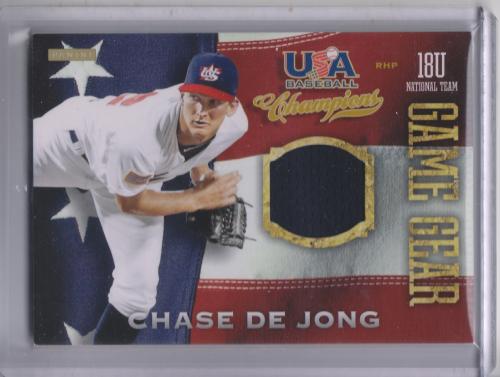 2013 USA Baseball Champions Game Gear Jerseys #15 Chase De Jong