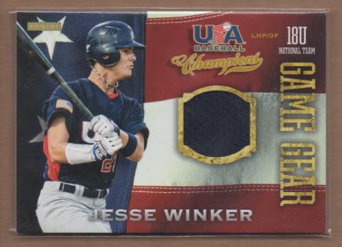 2013 USA Baseball Champions Game Gear Jerseys #17 Jesse Winker