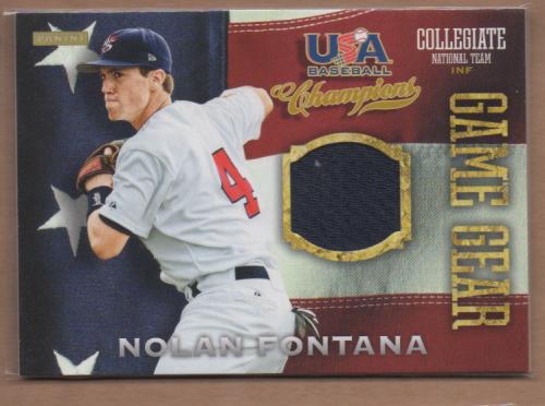 2013 USA Baseball Champions Game Gear Jerseys #18 Nolan Fontana
