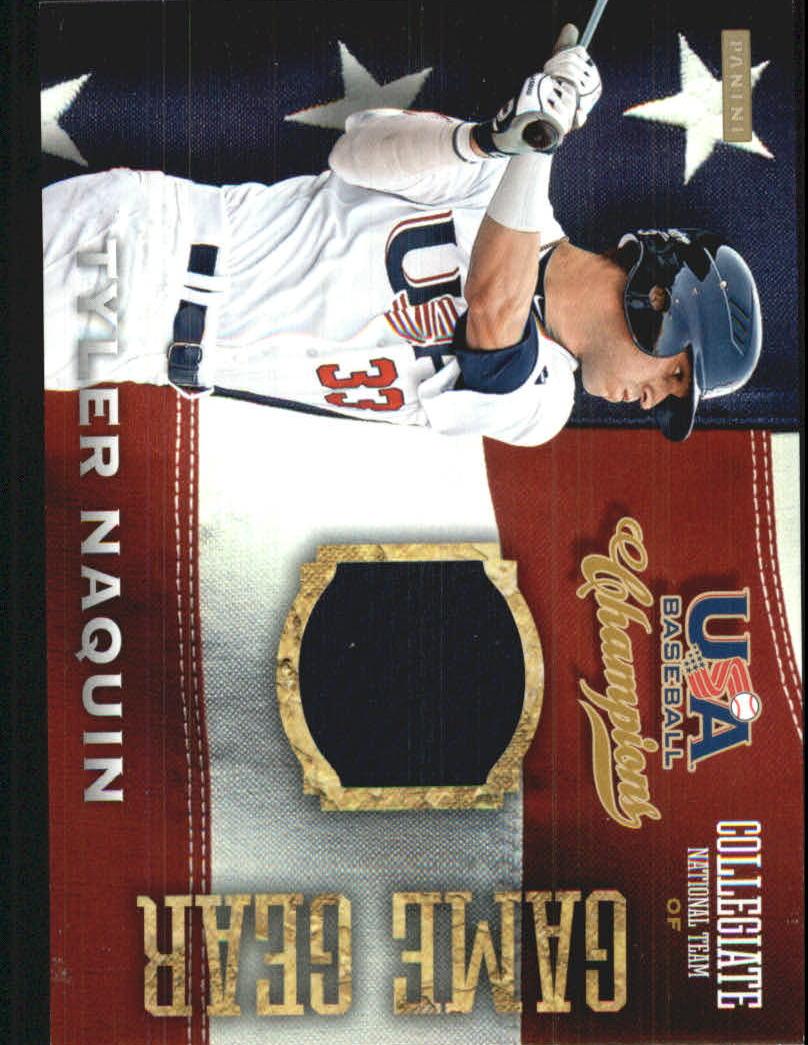 2013 USA Baseball Champions Game Gear Jerseys #19 Tyler Naquin