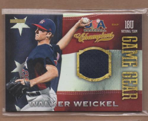 2013 USA Baseball Champions Game Gear Jerseys #20 Walker Weickel