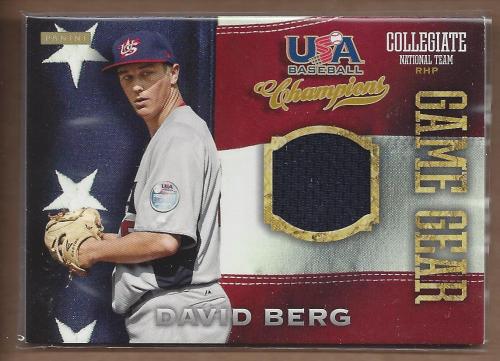 2013 USA Baseball Champions Game Gear Jerseys #25 David Berg