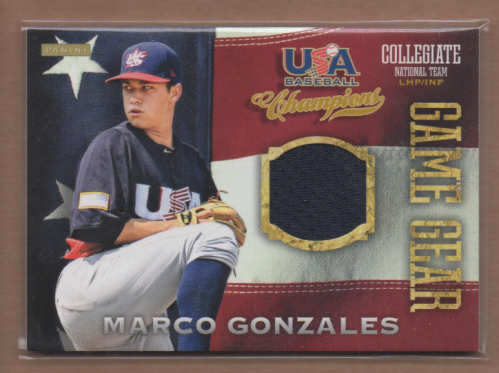 2013 USA Baseball Champions Game Gear Jerseys #34 Marco Gonzales