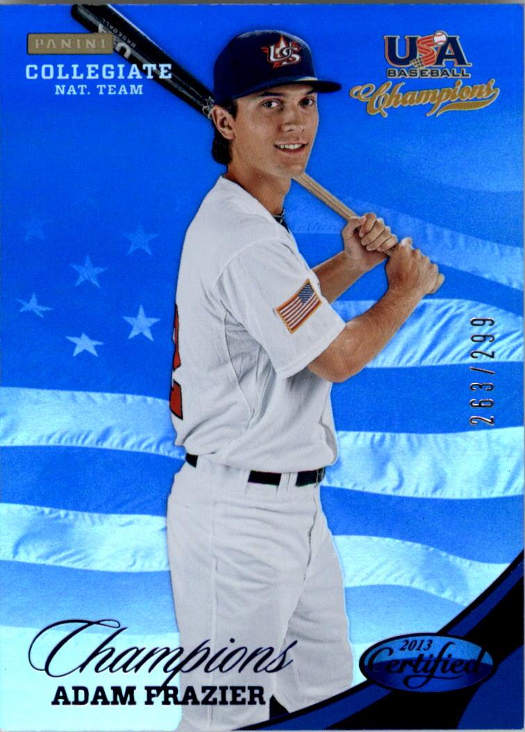 2013 USA Baseball Champions National Team Mirror Blue #134 Adam Frazier