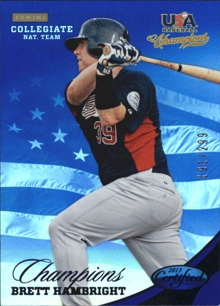 2013 USA Baseball Champions National Team Mirror Blue #136 Brett Hambright