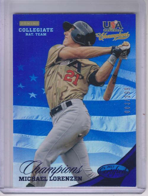 2013 USA Baseball Champions National Team Mirror Blue #138 Michael Lorenzen