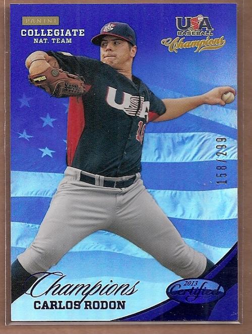 2013 USA Baseball Champions National Team Mirror Blue #143 Carlos Rodon