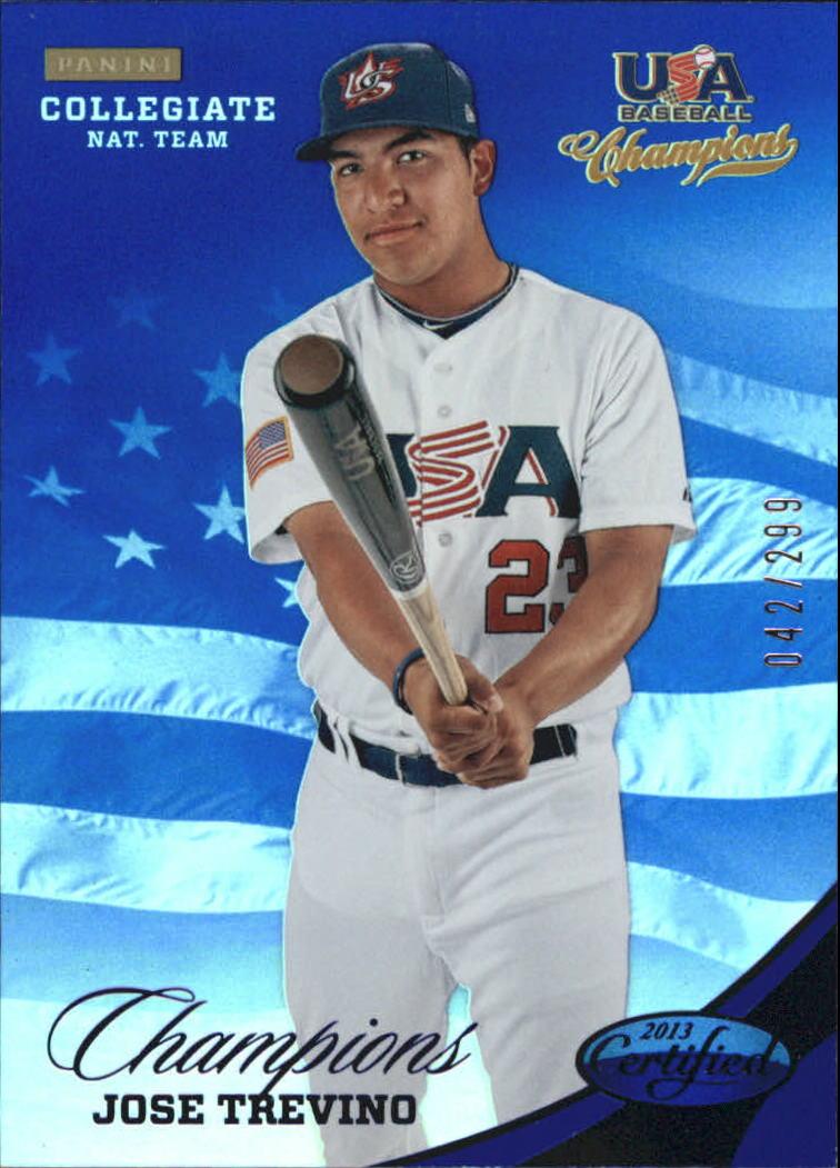 2013 USA Baseball Champions National Team Mirror Blue #145 Jose Trevino