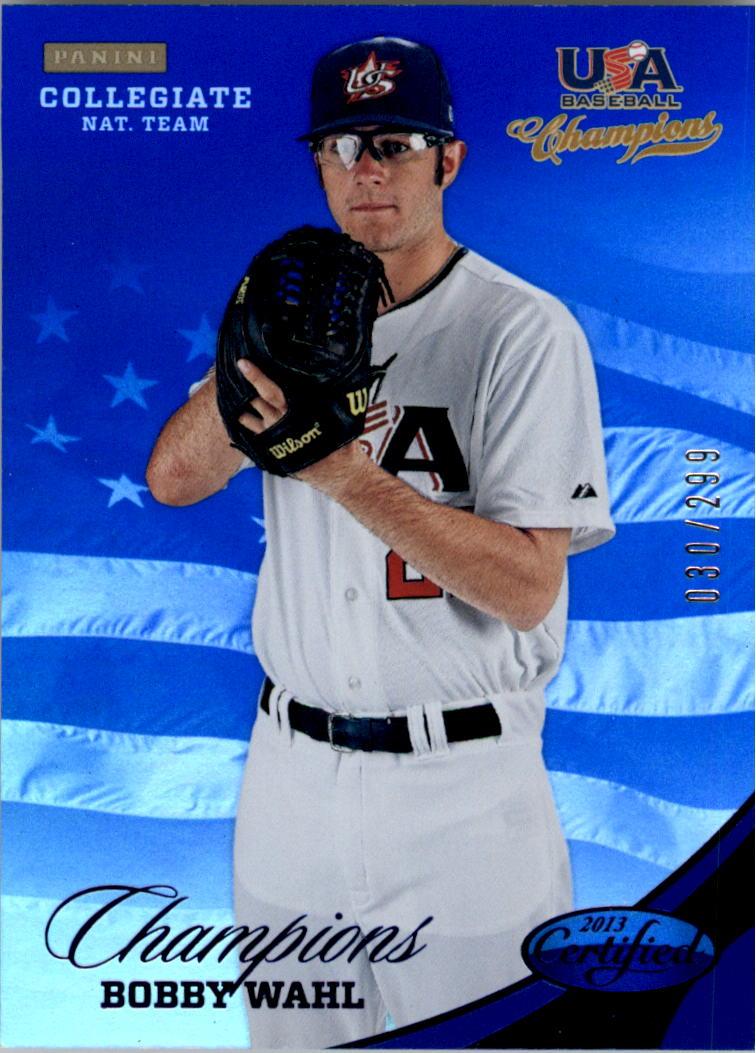 2013 USA Baseball Champions National Team Mirror Blue #147 Bobby Wahl