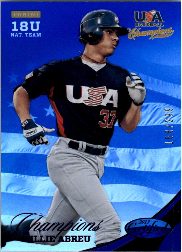 2013 USA Baseball Champions National Team Mirror Blue #149 Willie Abreu
