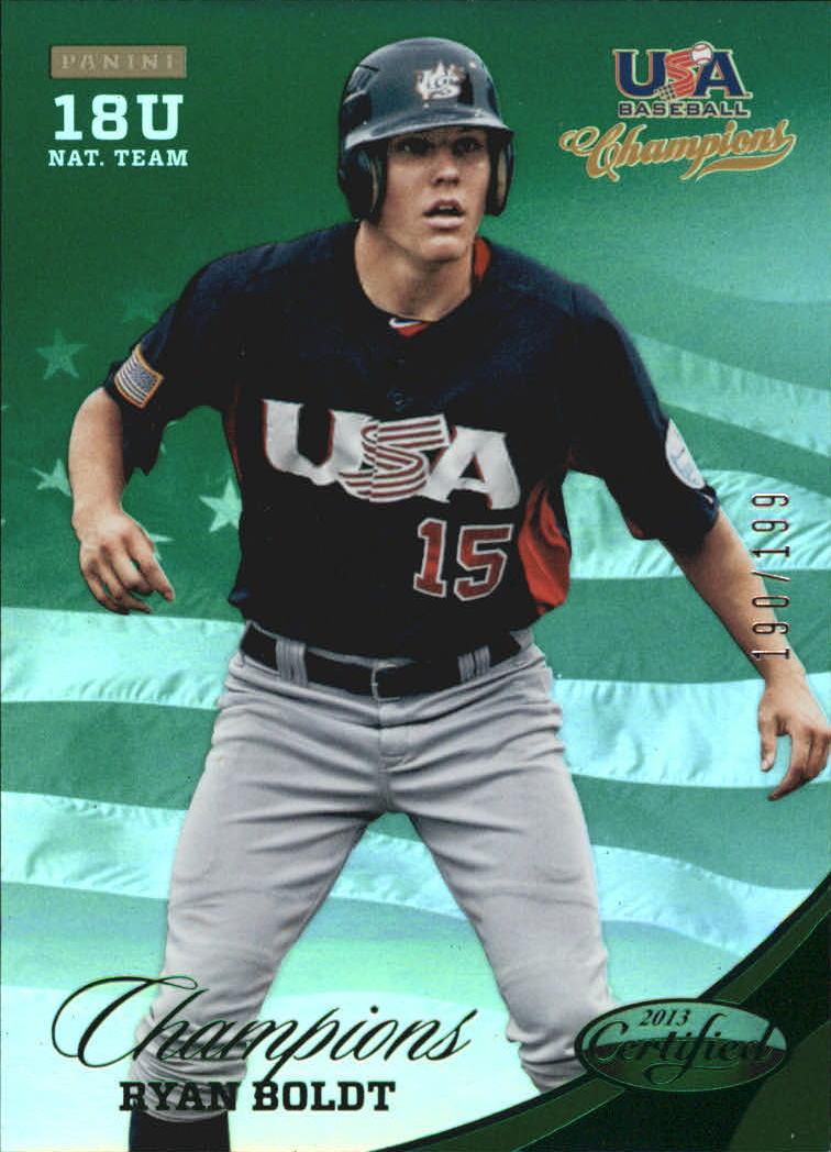 2013 USA Baseball Champions National Team Mirror Green #152 Ryan Boldt