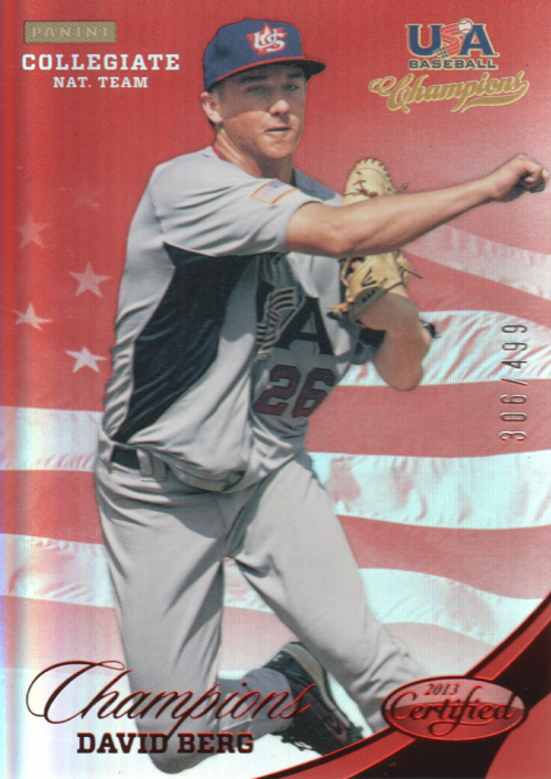 2013 USA Baseball Champions National Team Mirror Red #126 David Berg