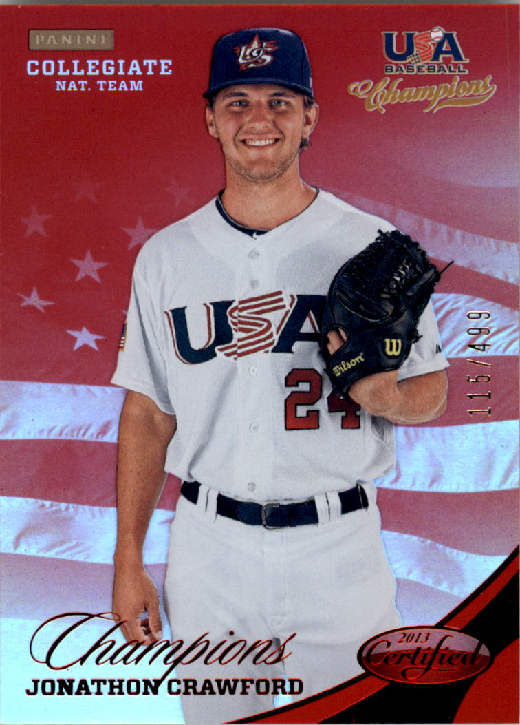 2013 USA Baseball Champions National Team Mirror Red #131 Jonathon Crawford