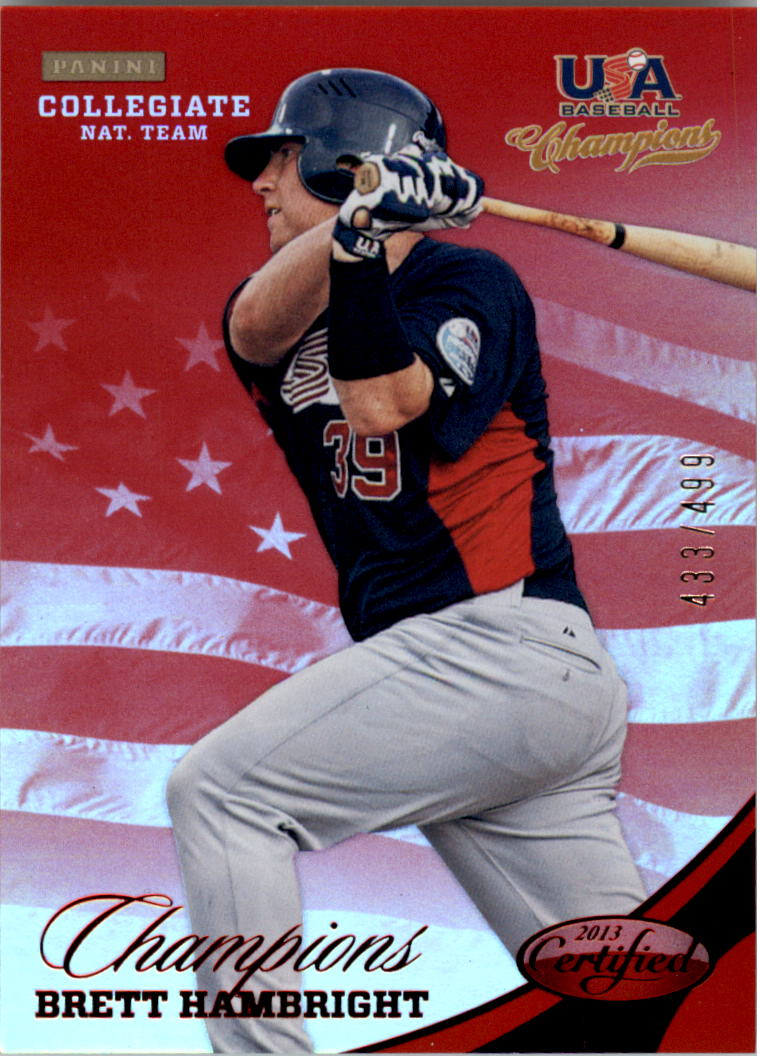 2013 USA Baseball Champions National Team Mirror Red #136 Brett Hambright