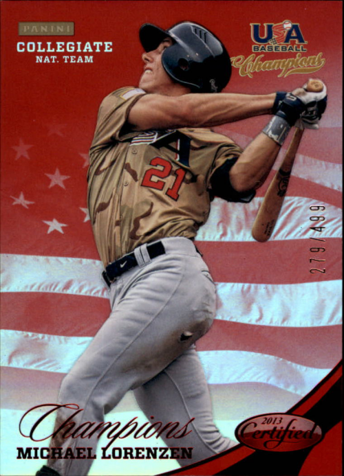 2013 USA Baseball Champions National Team Mirror Red #138 Michael Lorenzen