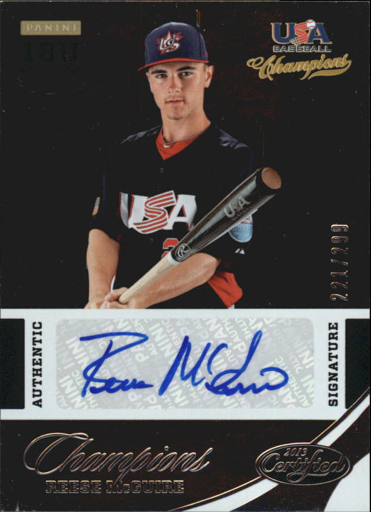 2013 USA Baseball Champions National Team Certified Signatures #35 Reese McGuire/299