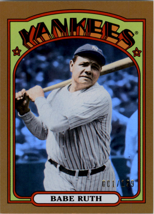 2013 Topps Archives Gold #1 Babe Ruth