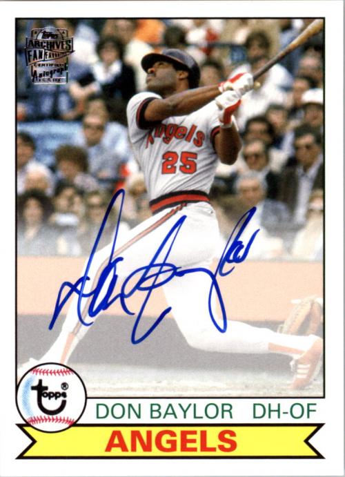 2013 Topps Archives Fan Favorites Autographs #DB Don Baylor
