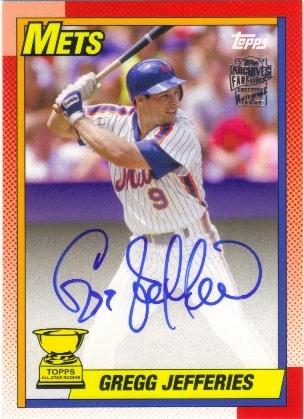 2013 Topps Archives Fan Favorites Autographs #GJ Gregg Jefferies