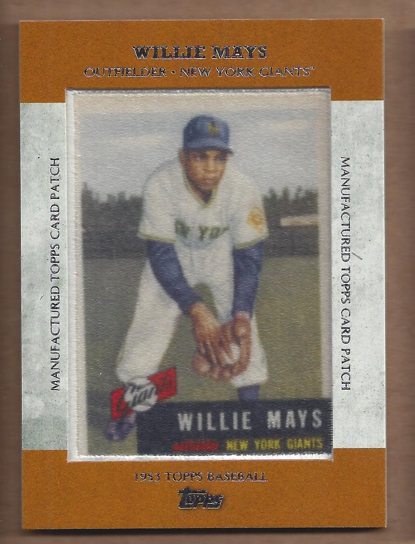 2013 Topps Manufactured Patch #MCP2 Willie Mays