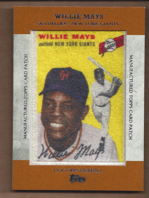 2013 Topps Manufactured Patch #MCP5 Willie Mays