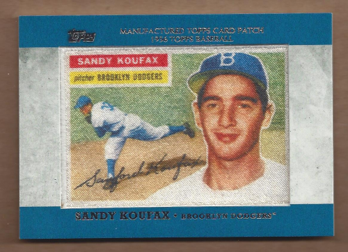 2013 Topps Manufactured Patch #MCP10 Sandy Koufax