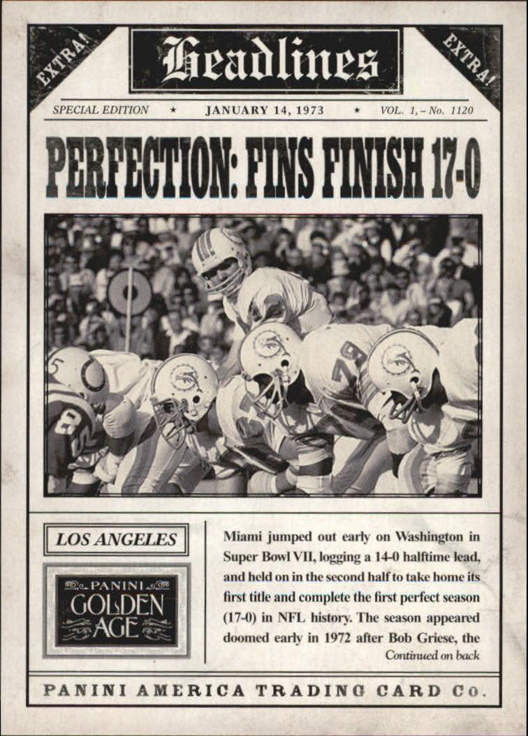 2013 Panini Golden Age Headlines #7 Bob Griese