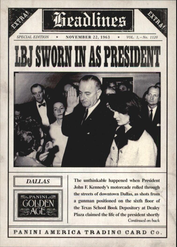 2013 Panini Golden Age Headlines #8 Lyndon Johnson