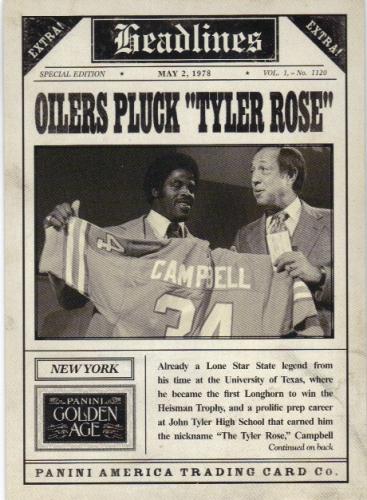 2013 Panini Golden Age Headlines #15 Earl Campbell