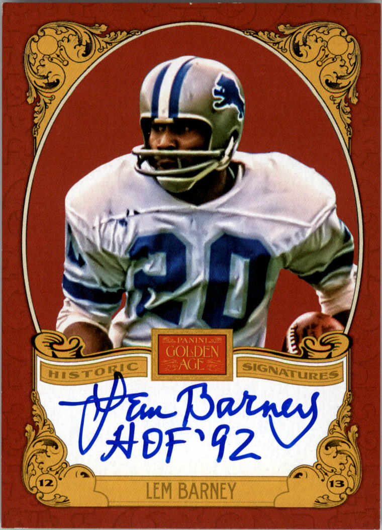 2013 Panini Golden Age Historic Signatures #LB Lem Barney