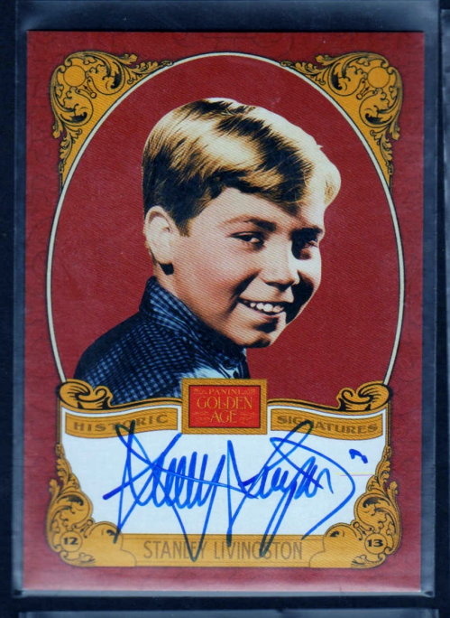 2013 Panini Golden Age Historic Signatures #SL Stanley Livingston