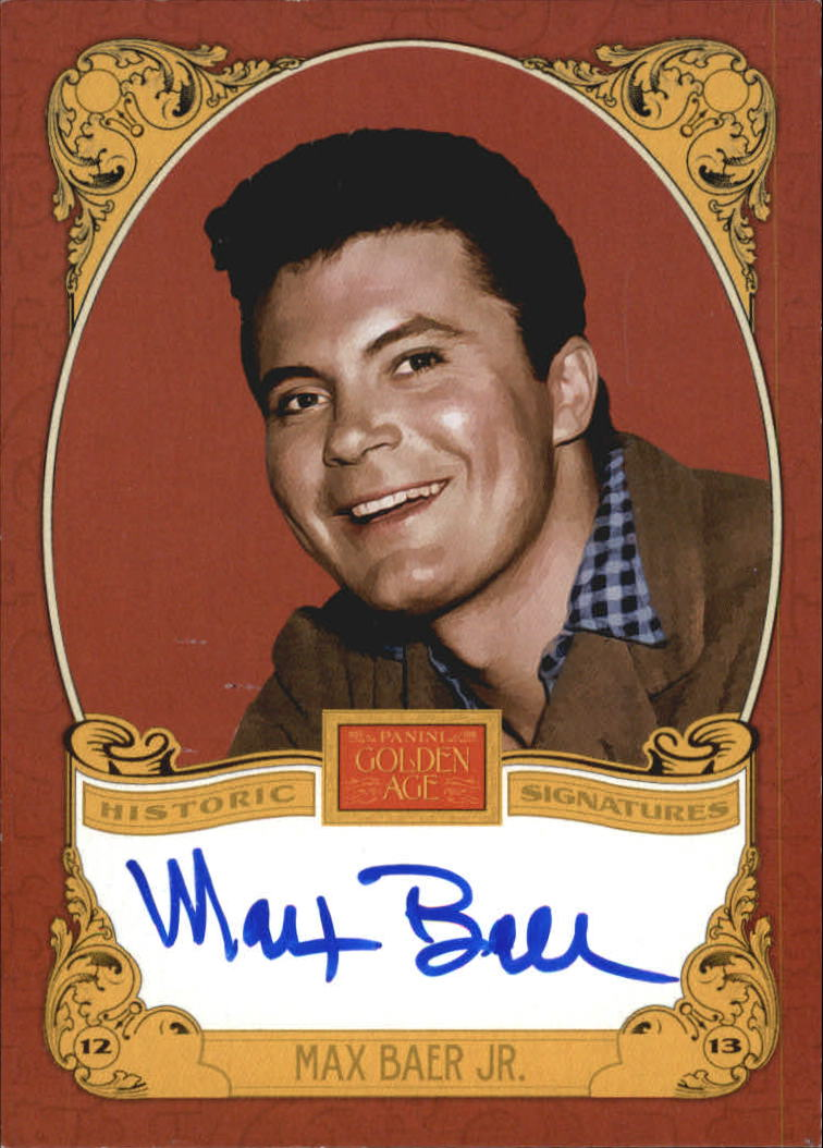 2013 Panini Golden Age Historic Signatures #MBJ Max Baer Jr.