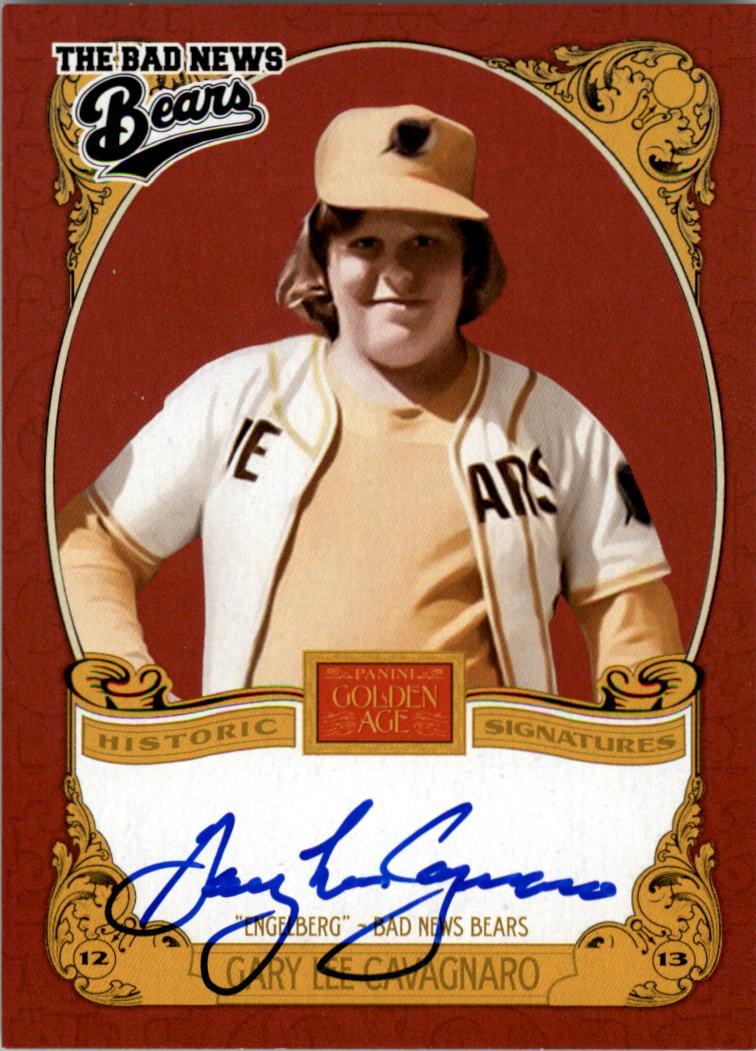 2013 Panini Golden Age Historic Signatures #GLC Gary Lee Cavagnaro
