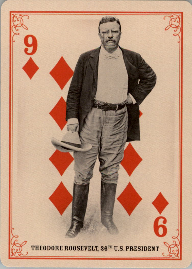 2013 Panini Golden Age Playing Cards #33 Theodore Roosevelt