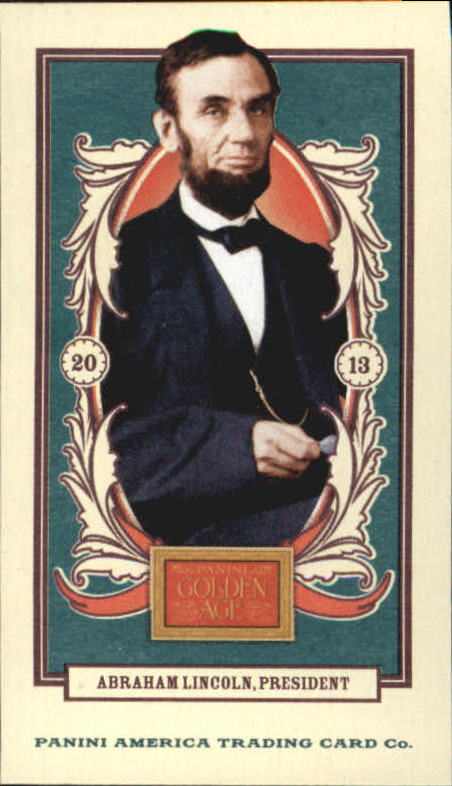 2013 Panini Golden Age Mini American Caramel Blue Back #1 Abraham Lincoln