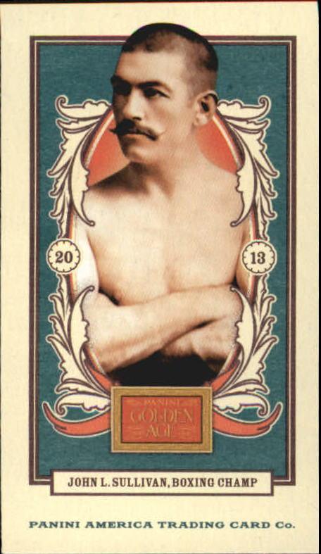 2013 Panini Golden Age Mini American Caramel Blue Back #3 John L. Sullivan